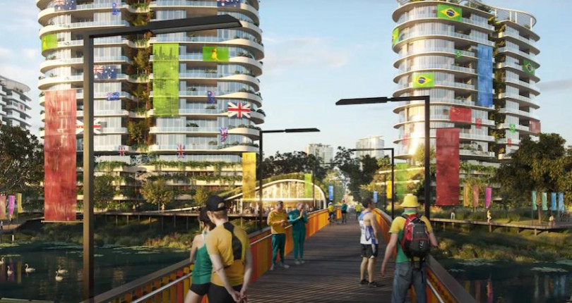 A proposed Olympic village at Robina would home over 2,600 athletes and officials.